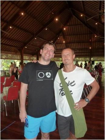 Andrew with Powerliving facilitator and mentor, Keenan Crisp.