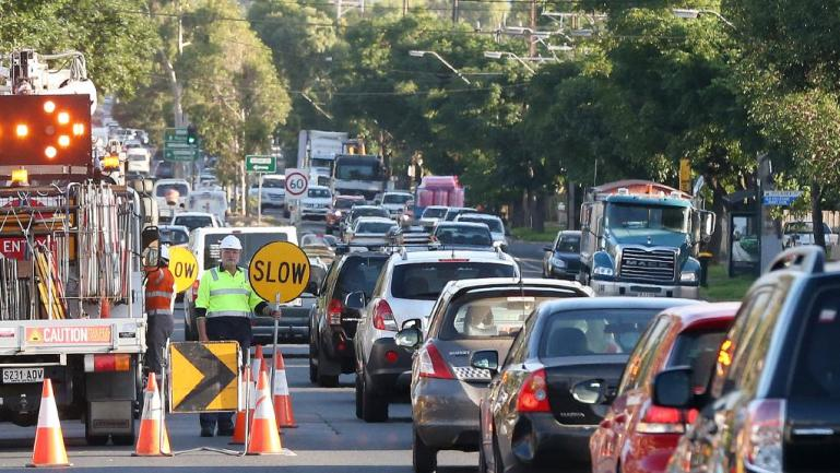 Adelaide Roadworks slow